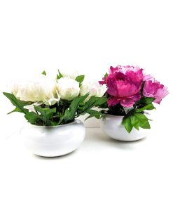 FLFBYD Cream Pink Peony Bowl Flowers By Design