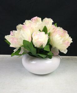 FLFBYD1 Cream Peony Bowl Flowers By Design